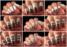 #Reindeer#Nail#Art!! How about celebrating this christmas with this reindeer nail art? It looks so lovely and will for sure be popular among your friends. What you will need to make this manicure nail design are... •Pale base color •Brown polish •White polish •Black polish •Red polish  •Pink polish •Dotting tool •Top coat #step#by#step#tutorial...