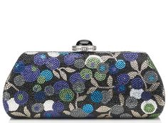 Delice Pattern Crystal Clutch