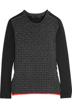 ALEXANDER WANG  Honeycomb-knit cotton-blend sweater  Pretty obsessed.
