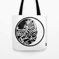 #Tiger #Tattoo - #Black #ToteBag by #taiche   Society6 @Society6 Also as #WallArt #HomeDecor #Pillows #Bedding #Bath #Tabletop #Stickers #Stationery #Tech #Apparel #Bags #UKHashtags #Bizitalk #ATSocialMedia https://society6.com/product/tiger-tattoo-black_bag?curator=taiche