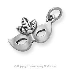 Mardi Gras Mask Charm James Avery sterling silver - $36.00