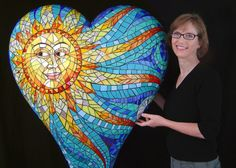 Carol Towler with her Large Heart