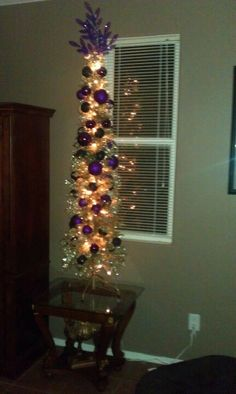Purple and black Halloween tree