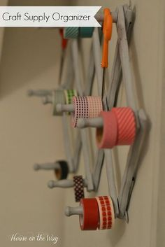 Turn a Vintage Accordion Peg Hanger Into a Craft Supply Organizer