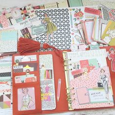 Sneak peek of my next blog post with some of the new products from The Reset Girl scrapbook collection by @simplestories_ The Persimmon Carpe Diem Planner and The Reset Girl planner line is available @theresetgirlshop and don't forget to use coupon code WeLove@Hautepinkfluff for 10% off your first order!