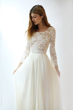 Discount Long Sleeves Lace Modest Wedding Dresses with Long Sleeves Bohemian Elega ., Discount Long Sleeves Lace Modest Wedding Dresses with Long Sleeves Bohemian Elegant A Line Floor Length Boho Wedding Dress Beach Wedding Dress Brand . Wedding Dress Brands, Vintage Style Wedding Dresses, Western Wedding Dresses, Lace Wedding Dress With Sleeves, Affordable Wedding Dresses, Modest Wedding Dresses, Perfect Wedding Dress, Boho Wedding Dress, Dresses With Sleeves