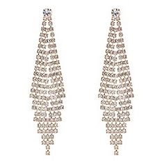 Gold diamante chandelier earrings