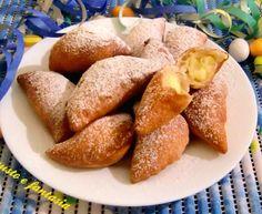 ravioli dolci con crema pasticcera