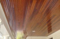 Mahogany Deck & Douglas Fir Ceiling