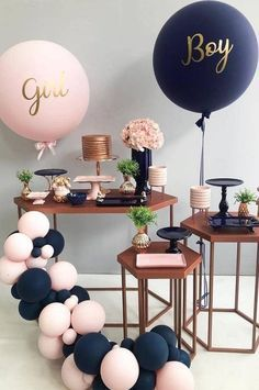 Home Interior Ideas baby shower ideas;baby shower ideas for boys;Home Interior Ideas baby shower ideas;baby shower ideas for boys; Idee Baby Shower, Baby Shower Games, Baby Boy Shower, Gold Baby Showers, Gender Party, Baby Gender Reveal Party, Simple Gender Reveal, Gender Reveal Balloons, Shower Party