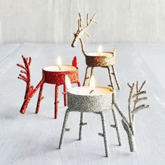 Standing Reindeer Tealight Candle Holder, available at #surlatable