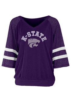 Kansas State (K-State) Wildcats T-Shirt - Purple Wildcats Mesh Batwing Long Sleeve Tee http://www.rallyhouse.com/shop/kstate-wildcats-5702599 $39.99