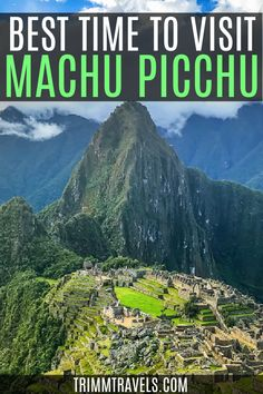 Perú's most famous treasure. One of the New Seven Wonders of the World. Check out the best time to visit Machu Picchu plus these best tips! Peru | Machu Picchu | Cusco | Trips from Cusco | Cusco Peru | Visit Peru | New Seven Wonders of the World | Explore Peru | South America | Latin America | Peru Landscapes | Visiting Machu Picchu | Outdoor Travel | Nature Travel | Hiking in Peru | Peruvian Landscapes | #machupicchu #peru #southamerica #latinamerica Cool Places To Visit, Places To Travel, Travel Destinations, Places To Go, Travel Tips, Travel Info, Travel Guides, Travel Goals, Travel Advice