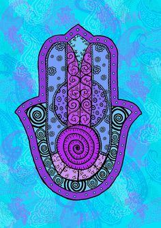 Fatima Hand--black by ladanka, via Flickr