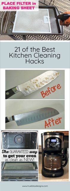 7 Secret Kitchen Hacks That Nobody Told You About. Simple and handy tricks that are absolutely genius. I collected my favorite kitchen hacks to share with you all. Deep Cleaning Tips, House Cleaning Tips, Cleaning Solutions, Spring Cleaning, Cleaning Hacks, Diy Hacks, Cleaning Checklist, Cleaning Products, Cleaning Schedules