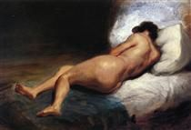 Study of a Reclining Nude - Eugene Delacroix