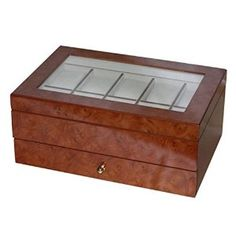 Peyton Wooden Watch Box - 11.6W x 4.75H in. from Mele Jewel Box Available at joyfulcrown.com