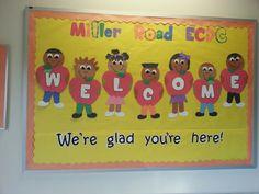 #Welcome #bulletinboard! Kids with apples! #preschool