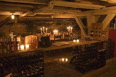 The winecellar of Dragsholm Castle.