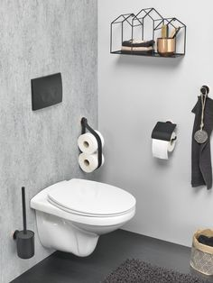 Tiger Urban Badaccessoires-Set The post Tiger Urban Badaccessoires-Set Buy Toilet, Toilet Room, Small Toilet, Toilet Brushes And Holders, Downstairs Toilet, Wall Mounted Toilet, Toilet Design, Small Bathroom Storage, Bathroom Toilets