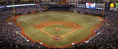 Tropicana Field, St. Petersburg - Very cinder-blocky and cheap-looking. But I kinda like seeing games there.