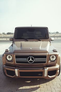 Light brown mercedes-benz
