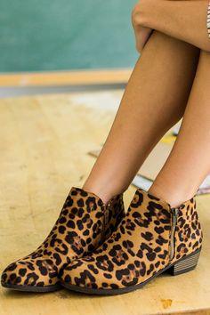 Kick Back Cheetah Ankle Boots at reddressboutique.com
