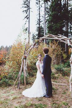 Wald Hochzeit im Allgäu! Shooting time...So Boho, rustikal und natürlich. Flora Studios Fine Art Photography <3