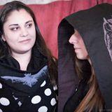 Infinity scarf and hooded scarf Designer: Layla Azer Silk Screener: Kara Scarfo Photographer: Bruce Walker  Line: Night Memory