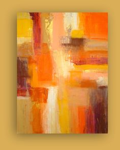 "LARGE Original Abstract Painting Fine Art on Gallery Canvas Title: SEDONA 30x40x1.5"" by Ora BIrenbaum. $345.00, via Etsy."
