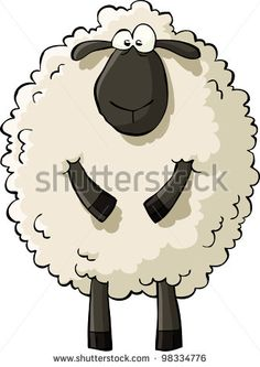 Sheep on a white background vector illustration - stock vector
