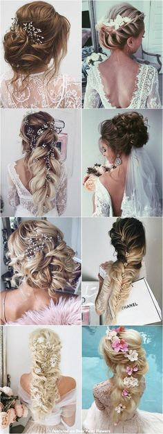 Best Ideas For Wedding Hairstyles : 65 New Romantic Long Bridal Wedding Hairstyles to Try / Ulyana Aster www. Wedding Hairstyles For Long Hair, Wedding Hair And Makeup, Pretty Hairstyles, Hair Makeup, Bridal Hairstyles, Easy Hairstyles, Short Hair, Bridesmaid Hair, Prom Hair