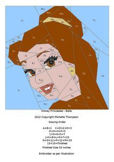 Disney Princess Quilt - Belle pattern