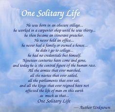 Essay one solitary life