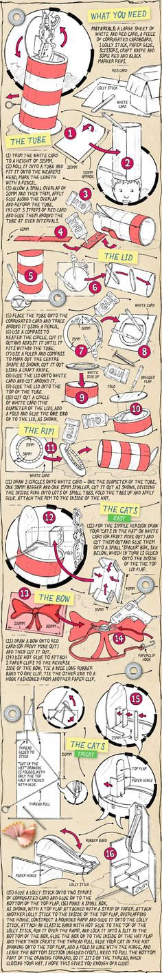 cat-in-the-hat-sketch - great tutorial instructions! Really old school.