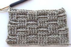 Hekel Idees: Mandjieweef Steek / Basketweave Stitch Afrikaans, Knitting Patterns, Crochet Patterns, Knitting For Beginners, Beginner Crochet, Basket Weaving, Crochet Projects, Knit Crochet, Sewing