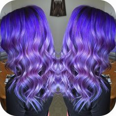 """126 Likes, 12 Comments - HAIR & MAKEUP BY KAYLA BOYER (@kayla_boyer) on Instagram: """"Can't get over how awesome this purple lavender color melt turned out on @k_otten, another view of…"""""""