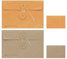 8663c249942e These Kraft envelopes are brilliant. Korean Stationery, Stationery Shop,  Cute Stationery, Leather