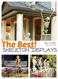 Halloween Yard Displays, Halloween Skeleton Decorations, Halloween Skeletons, Halloween Witches, Terrifying Halloween, Halloween Graveyard, Halloween Mantel, Halloween Window, Christmas Decorations