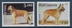 Belgian Laekenois Dogs 2 different MNH stamps