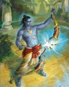 shrii raghunathayaa nama:/ Means the lordn of Raghuvansi family Shiva Art, Hindu Art, Indian Gods, Indian Art, Arte Krishna, Shri Ram Wallpaper, Lord Rama Images, Art Paintings, Watercolor Paintings