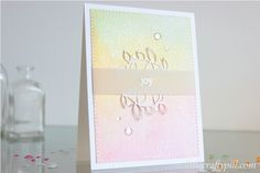 Watercolor background for a soft and subtle Christmas card