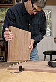 Add Muscle To Your Miters. Shopmade L-shaped tenons create a powerful joint. p.52, FWW 254