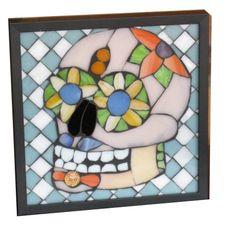 Diversión poco azúcar cráneo Art Glass Mosaic por SequentialGlass