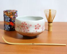 Ryu Mei Beginner Kyoto Ceremony Green Tea Set with Organic Matcha Green Tea Powder Chawan Tea Set Bowl Bamboo Spoon Bamboo Whisk and a Washi Caddy Tin 52724 Japan Blue Sakura -- Click on the image for additional details. (This is an affiliate link and I receive a commission for the sales)