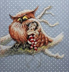 NEOCRAFT COUNTED CROSS STITCH KIT - UNDER THE WING #NEOCRAFT