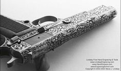 Guns engraved by Steve Lindsay