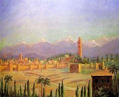 One of the many paintings Churchill painted in Morocco
