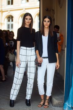 Carolina Thaler & Pauline Hoarau - On the Street: Paris Haute Couture Week Fall 16 - July 2016