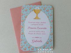 Convite Primeira Comunhão - Cálice Floral  :: flavoli.net - Papelaria Personalizada :: Contato: (21) 98-836-0113 - Também no WhatsApp! vendas@flavoli.net